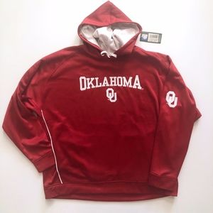 NWT Oklahoma University OU Red Pullover Hoodie 2XL